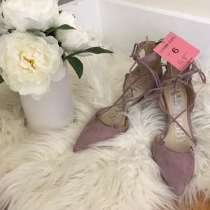 NWT pink/lavender Sam&Libby heels w/memory foam